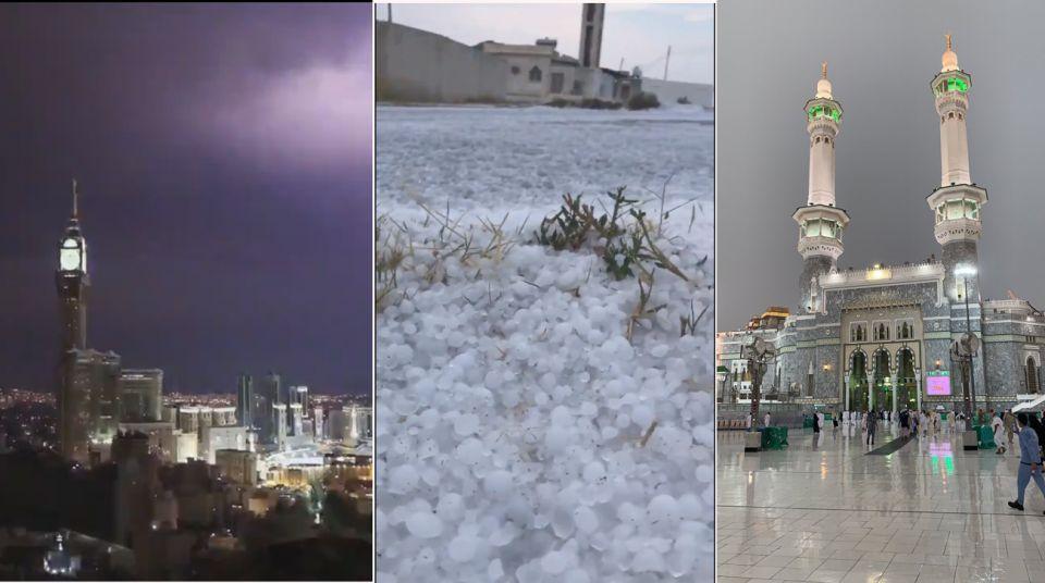 أمطار غزيرة ورعدية على مكة المكرمة