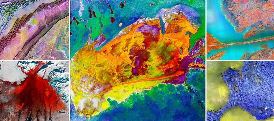 ناسا تعرض صورا مذهلة بألوان مبهرة للمسطحات الملحية والأنهار الجليدية