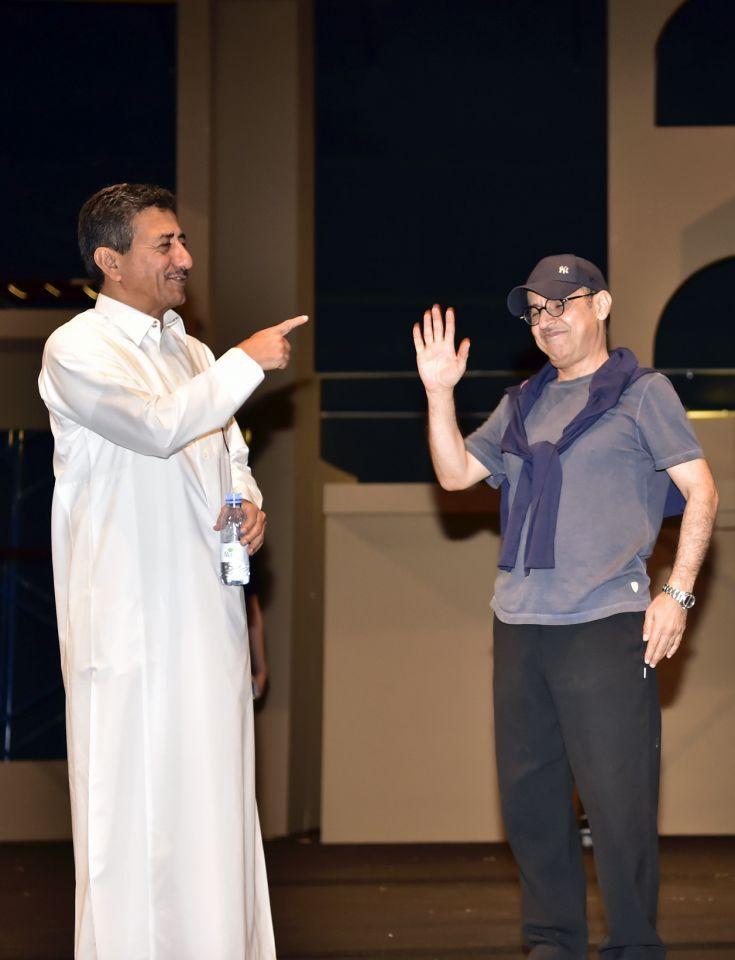 بالصور : ناصر القصبي يعود إلى خشبة المسرح