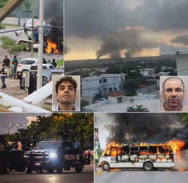 عصابة مكسيكية تشعل حرب مدن وتجبر الشرطة على إطلاق سراح نجل زعيمها