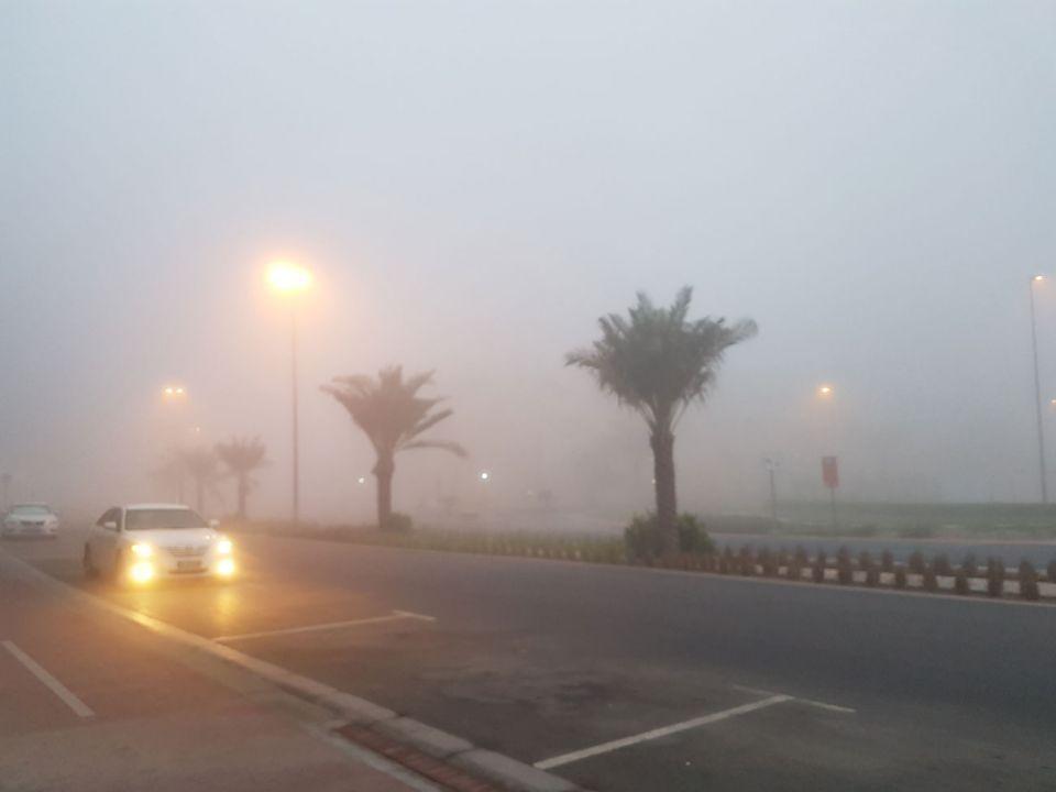 الإمارات: تحذير من ضباب قد يؤدي إلى انعدام الرؤية الأفقية
