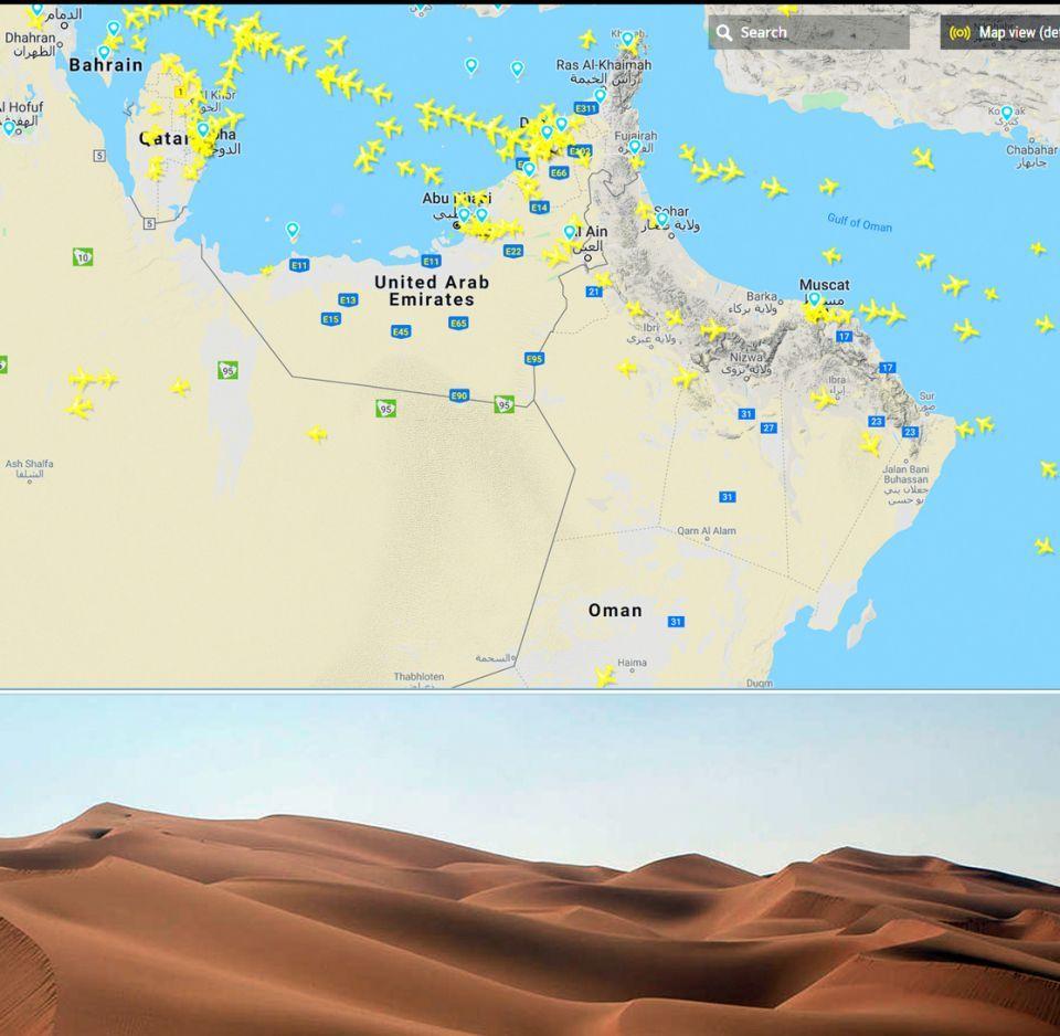 سلطنة عمان تدشن مسار الطيران فوق الربع الخالي