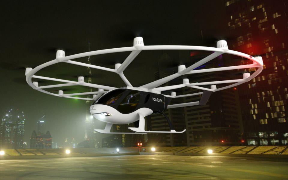 بالصور : اختبار سيارة أجرة طائرة ذاتية القيادة في سنغافورة