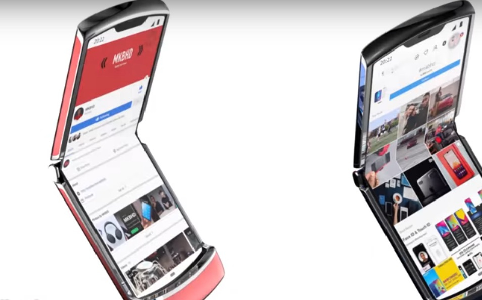 بالصور : أول هاتف قابل للطي من موتورولا
