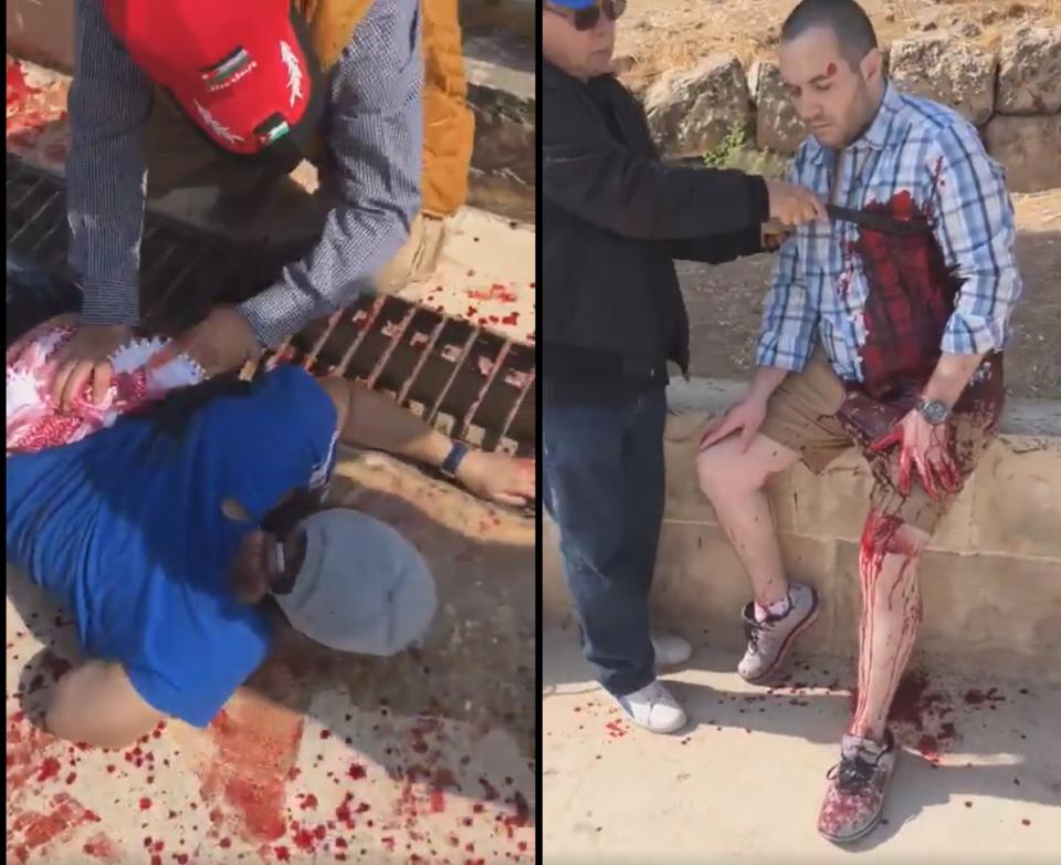 إصابة 3 مكسيكيين وسويسري و4 أردنيين في حادث الطعن بمدينة جرش
