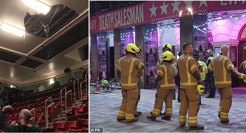 إصابات بين الجمهور مع انهيار سقف مسرح بيكاديللي في لندن