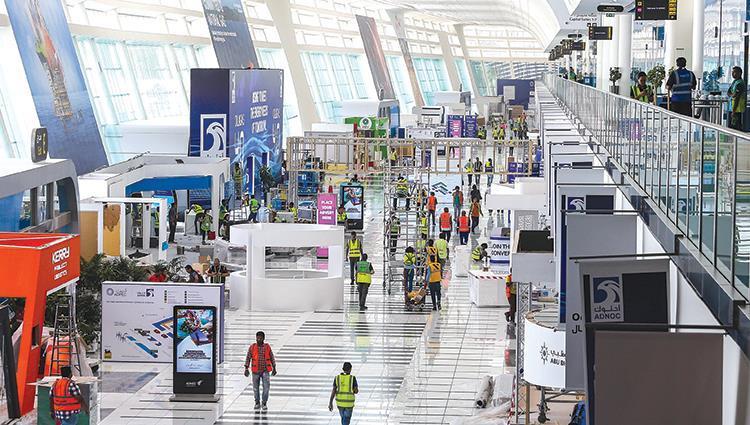معرض ومؤتمر أبوظبي الدولي للبترول «أديبك» ينطلق بمشاركة 136 بلدا