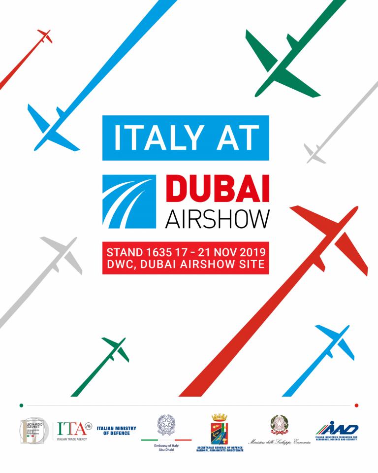تسع شركات إيطالية متخصّصة في معرض دبي للطيران 2019