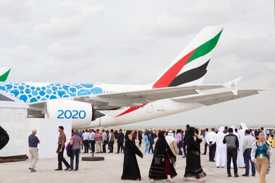 54.5 مليار دولار صفقات في معرض دبي للطيران و رقم قياسي للزوار