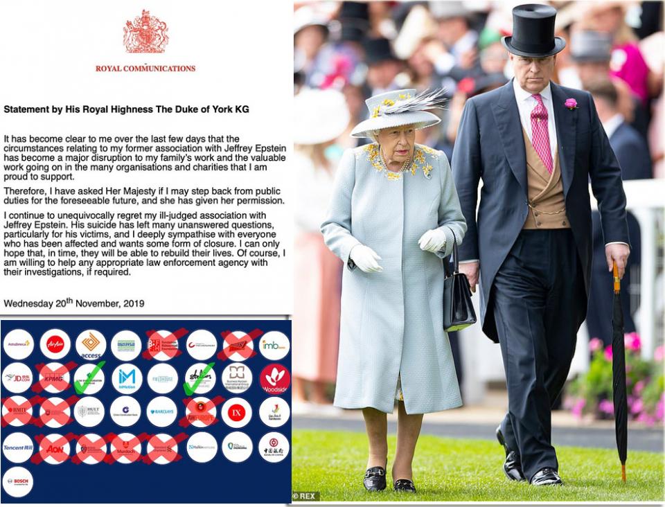 ملكة بريطانيا تقيل الأمير أندرو من واجباته وتلغي راتبه الشهري