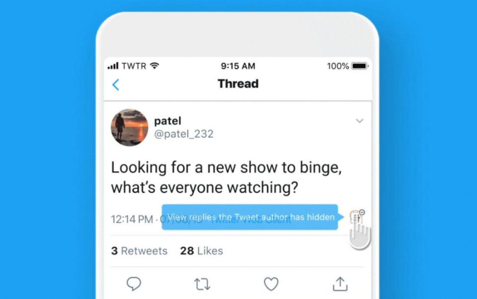 تويتر تطلق مبزة حجب الردود والتعليقات لمنح المشترك تحكما أكبر