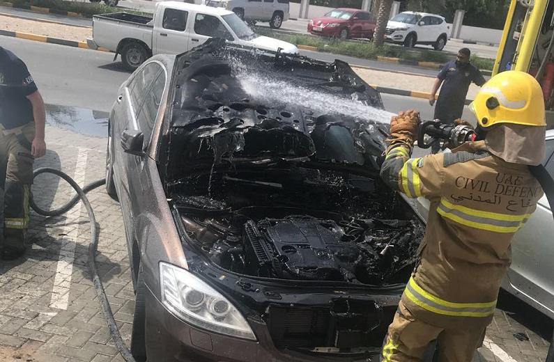655 حادث حريق سيارات في دبي العام الجاري.. منها 28 حريقاً عمداً