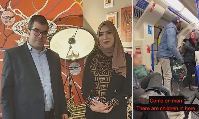 رجل يهودي يجتمع بمسلمة دافعت عنه من اعتداء لفظي في المترو بلندن