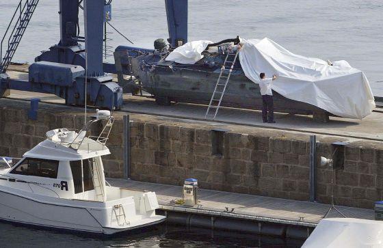 شاهد ضبط غواصة تهريب نقلت ثلاث أطنان من الكوكايين إلى شمال إسبانيا