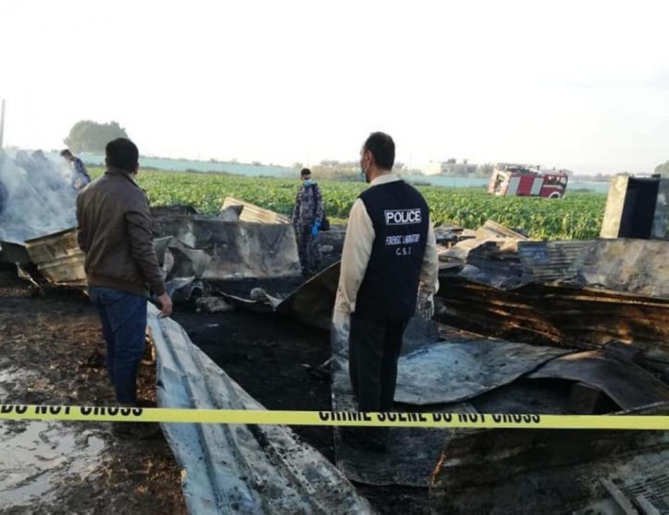 حريق بمزرعة في الأردن يودي بحياة 13 باكستانيا