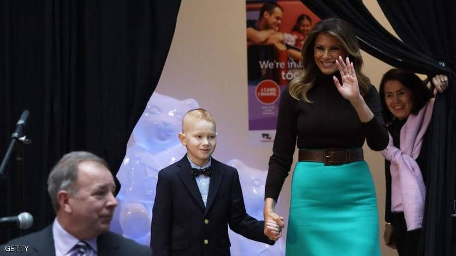 بالصور : ميلانيا ترامب تقرأ للأطفال المرضى
