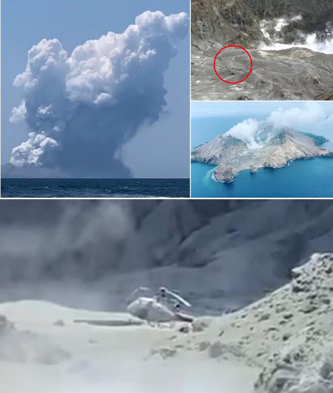 سقوط قتيل بين سياح كانوا في فوه بركان عند ثورانه في نيوزيلندا