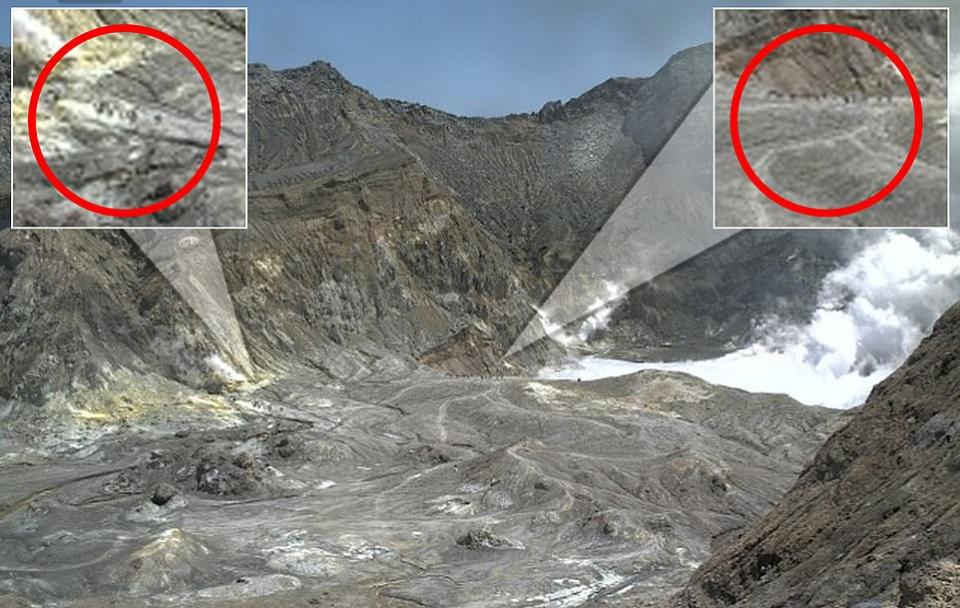 شاهد انفجار بركان خلال جولة لسياح في فوهته!