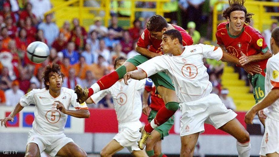 بالصور: رونالدو يتحدى الجاذبية مرة أخرى بضربة رأس خيالية