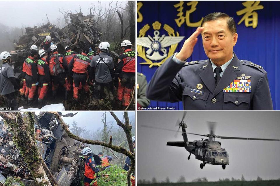 مصرع رئيس أركان الجيش التايواني في تحطم لمروحية بلاك هوك