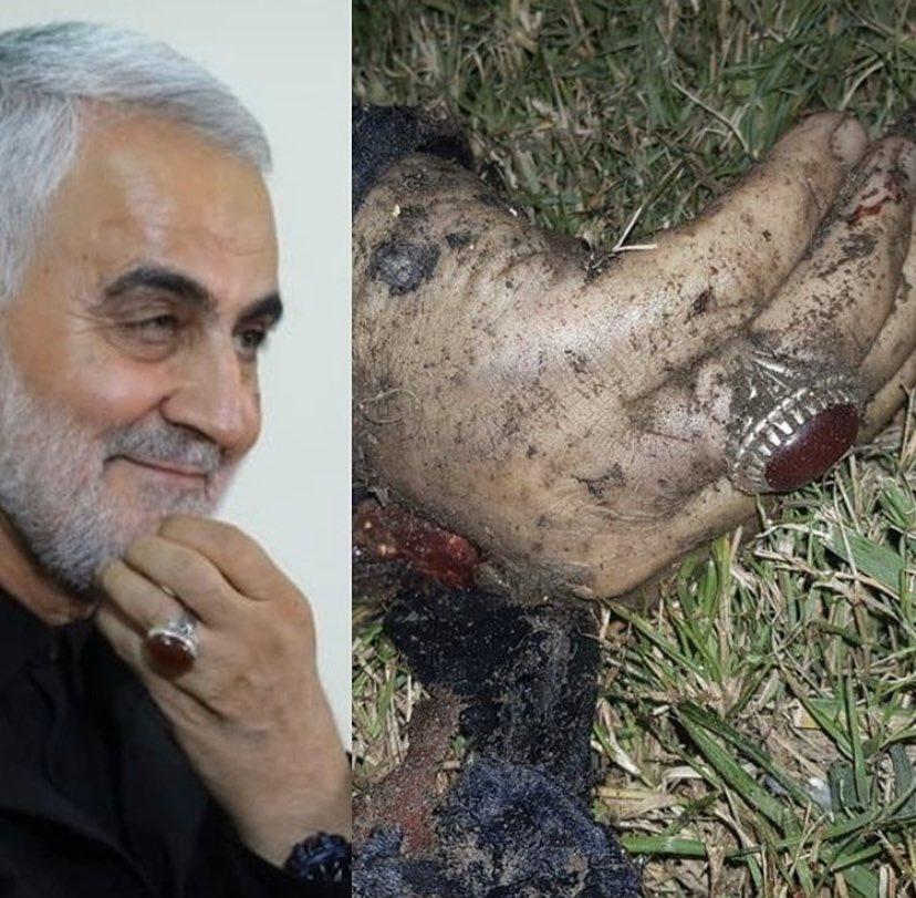 شاهد عملية قصف جنرال ايراني في مطار بغداد