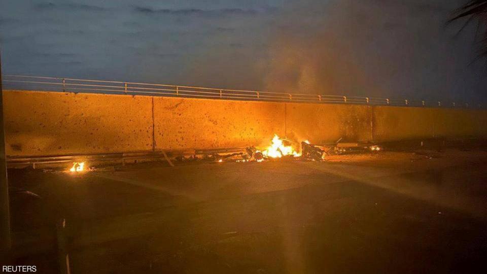 الصور الأولى لمقتل الجنرال الإيراني قاسم سليماني
