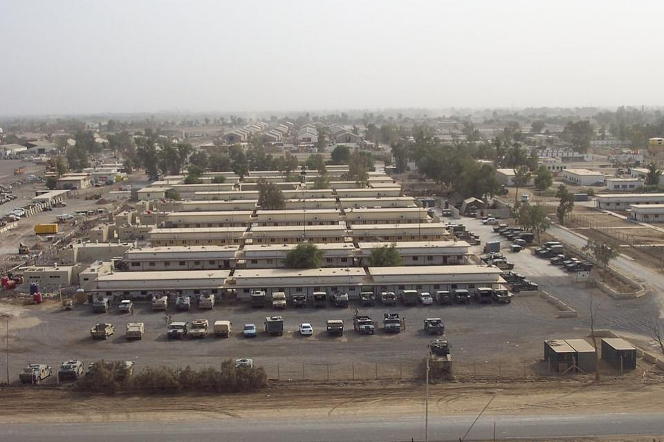 شاهد الصواريخ  التي أطلقتها إيران على قاعدة أمريكية في العراق