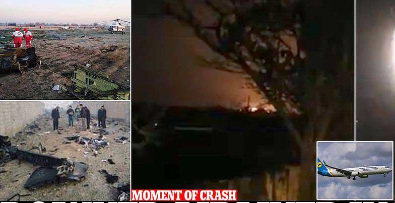 تحطم طائرة طراز بوينغ 737 وعلى متنها 180  في  إيران