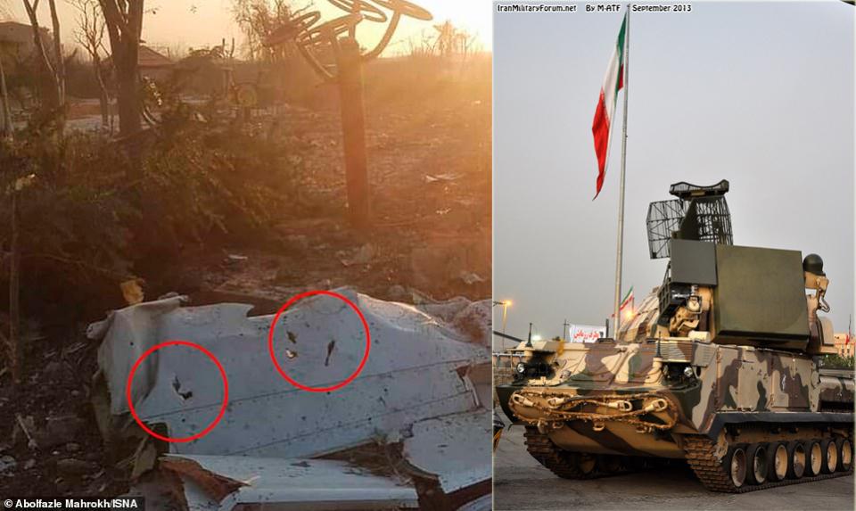 صاروخ أسقط الطائرة الأوكرانية التي تحطمت في إيران