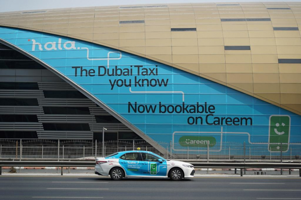 حجز تاكسي الأجرة بدبي يتحول بالكامل  إلى منصة هلا اعتباراً من 15 يناير