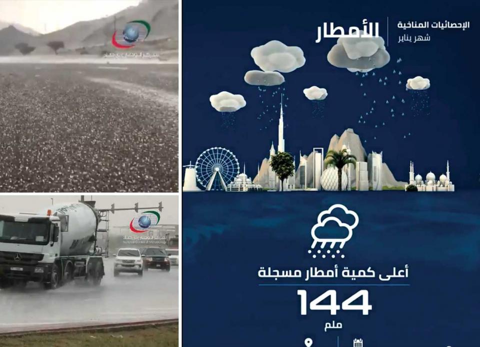 الإمارات: تحذير المركز الوطني للأرصاد من السيول في أماكن الأودية