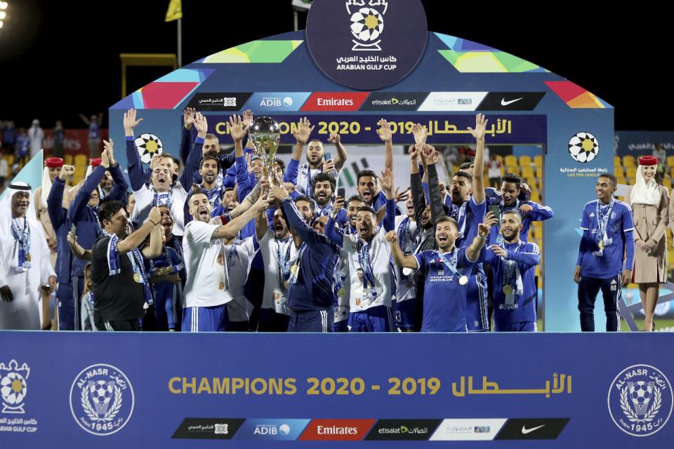 النصر الإماراتي بطلا لكأس الخليج العربي لكرة القدم للمرة الثانية