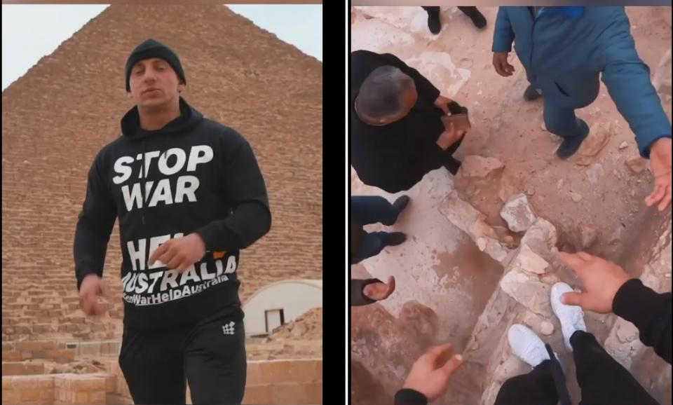 مصر: اعتقال شاب يحاول كسب متابعين بتسلق الهرم