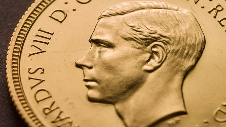 عملة ذهبية نادرة لملك بريطاني تنازل عن عرشه تباع بـ1.3 مليون دولار