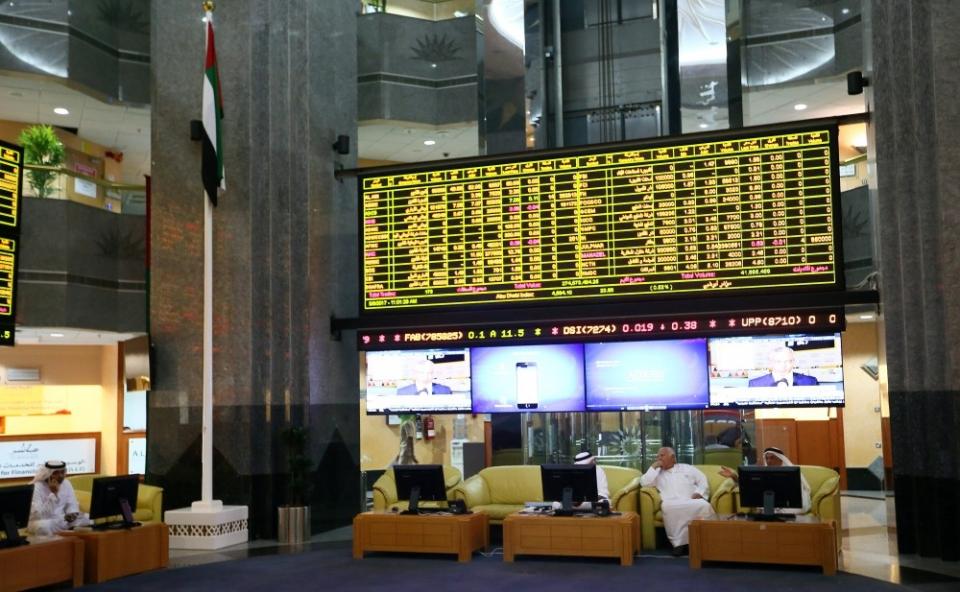 تراجع بمعظم أسواق الخليج وبورصة أبوظبي تخالف الاتجاه