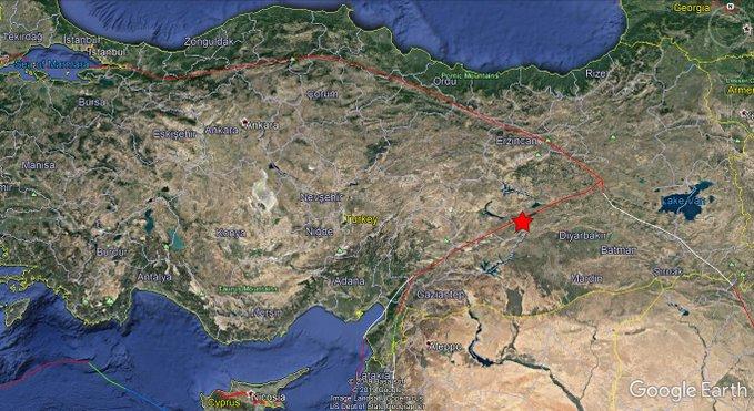 مقتل 4 أشخاص في زلزال شدته 7.1 درجة يضرب شرق تركيا وامتد إلى سوريا