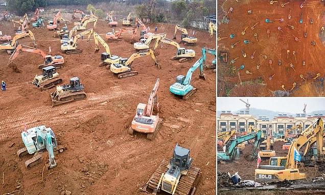 الصين تبني مستشفى في 6 أيام لمواجهة كورونا بعد  تقديرات بإصابة مئات الآلاف