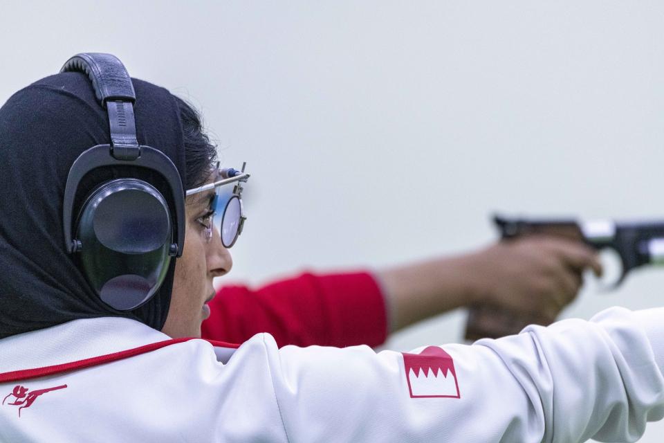 البحرينية موزة علي تتوشّح بذهبية رماية عربية السيدات 2020