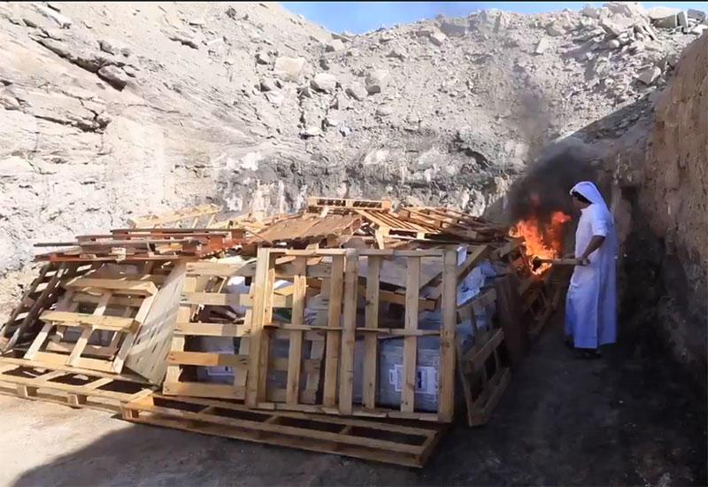 بالفيديو.. شرطة دبي تتلف 2929 كيلوغراما من المخدرات في جبل علي