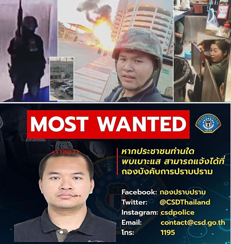 جندي تايلندي يبث على فيسبوك هجوما شنه على مركز تجاري وقتل قائده و 20 شخصا
