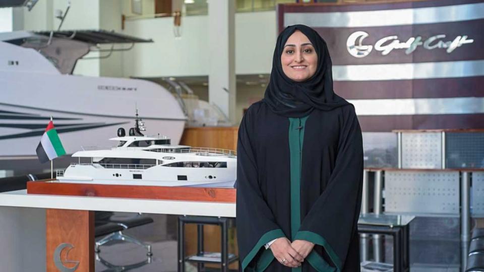 """عبير الشعالي تؤكد التزام الخليج لصناعة القوارب """"جلف كرافت"""" بالاستدامة"""