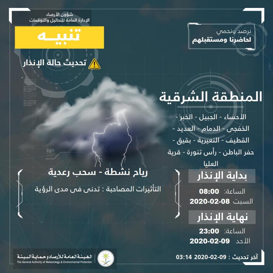 موجة برد قوية تصل شمال السعودية ودول الشرق الأوسط