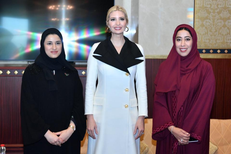 إيفانكا ترامب: الإمارات أخذت على عاتقها دوراً ريادياً في دعم المرأة