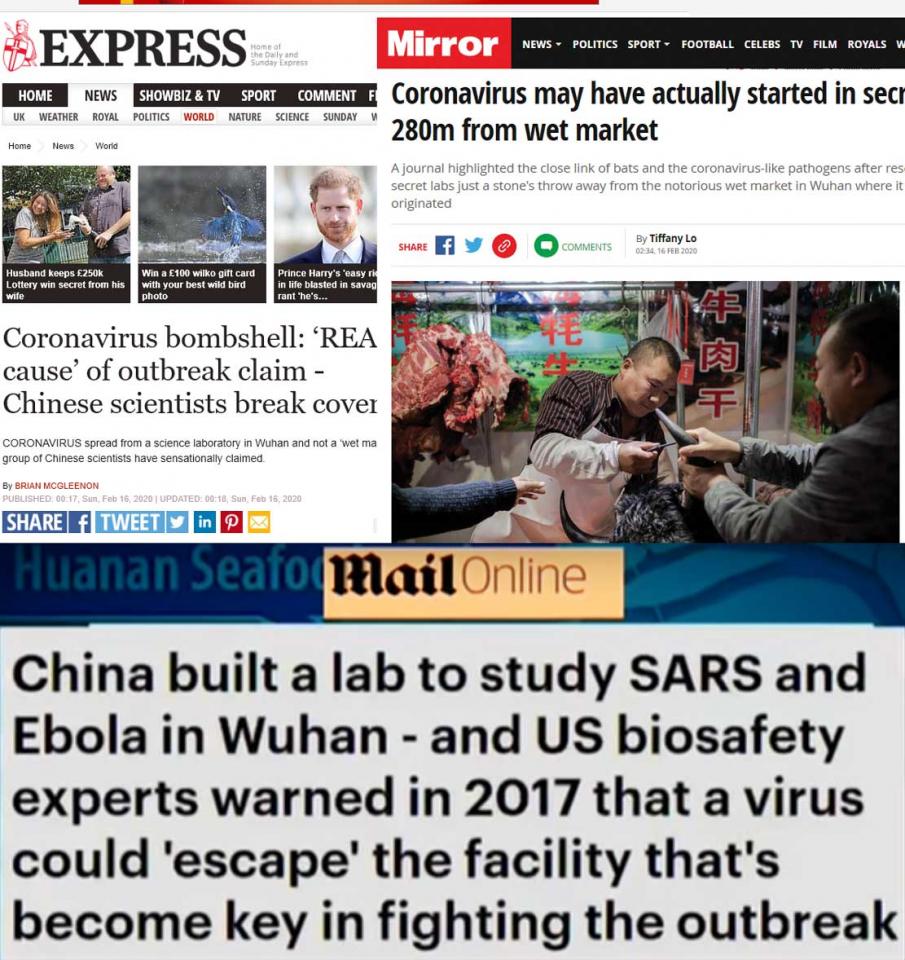 صحف بريطانية تروج لأخبار كاذبة عن كورونا