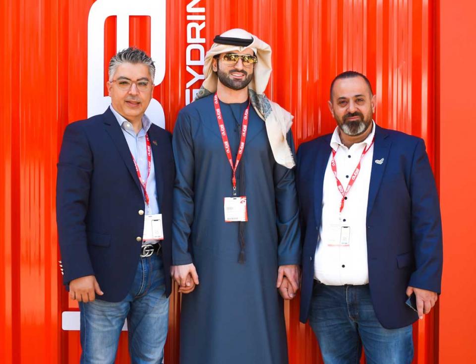 العلامة الجديدة الإماراتية  دبي انيرجي درنك في معرض جلفود