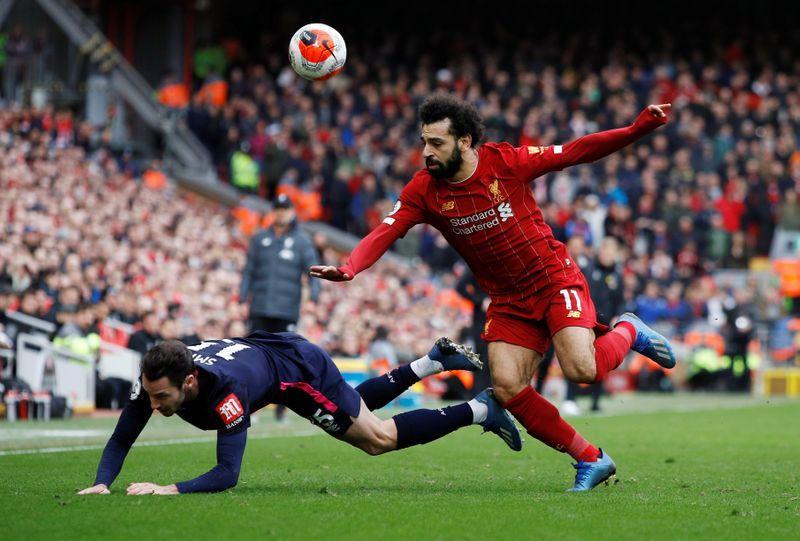محمد صلاح يشارك ساديو ماني بهدفين فوز ليفربول ضد بورنموث