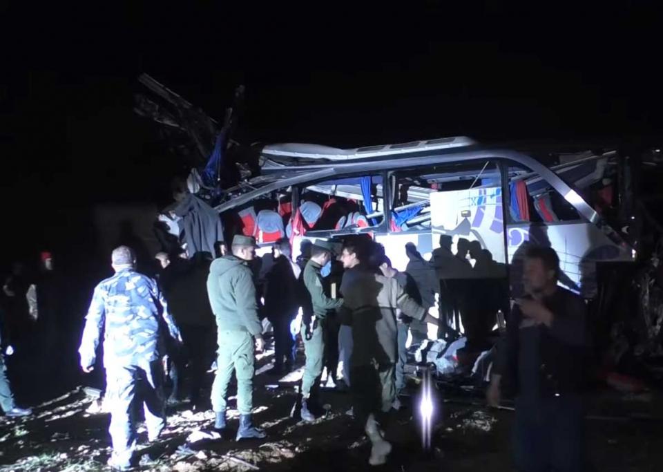 أكثر من 100 قتيل وجريح بينهم عراقيين في حادث سير شمال العاصمة السورية دمشق