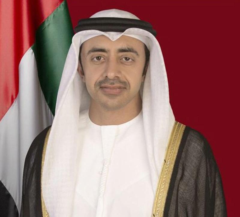 عبدالله بن زايد يجري اتصالاً هاتفياً مع وزير الخارجية الإيراني