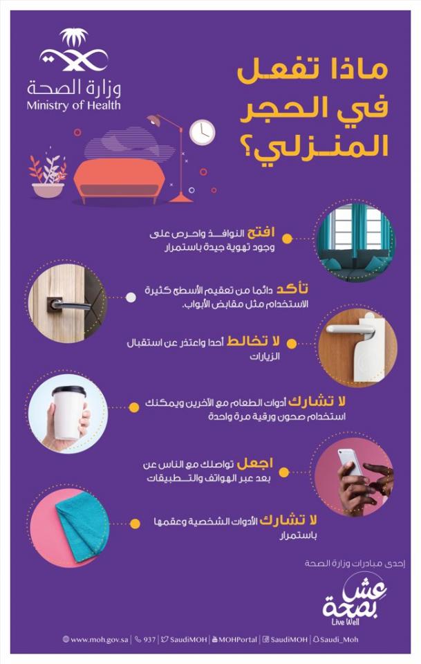 وزارة الصحة السعودية تعلن عن 70 إصابة جديدة بفيروس كورونا