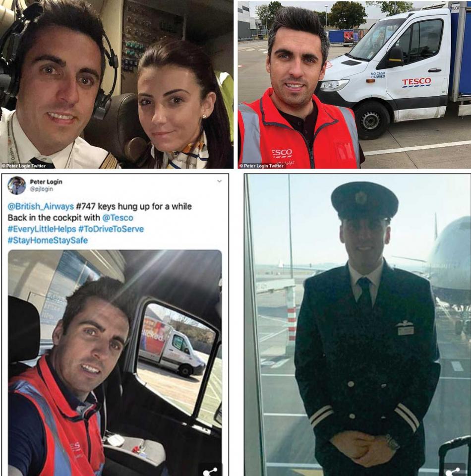 شاهد كابتن طائرات في بريتش إيرويز يصبح سائق توصيل